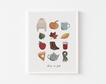 Fall Things Print