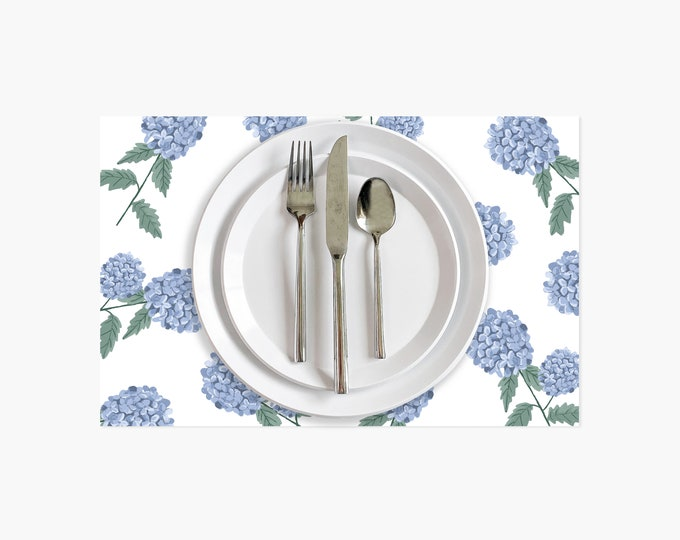 Featured listing image: Hydrangea Paper Placemats - 10PK