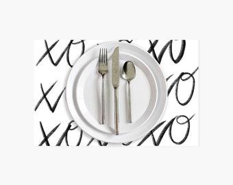 XOXO Paper Placemats - 10PK