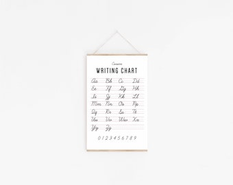 Cursive Writing Chart Poster