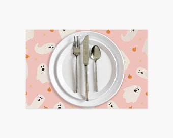 Halloween Ghost Paper Placemats - 10PK
