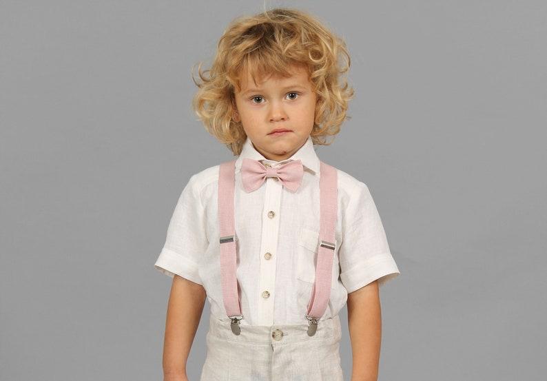 235f215c9cf9 Boys creamy white linen shirt Ring bearer ivory shirt Wedding   Etsy