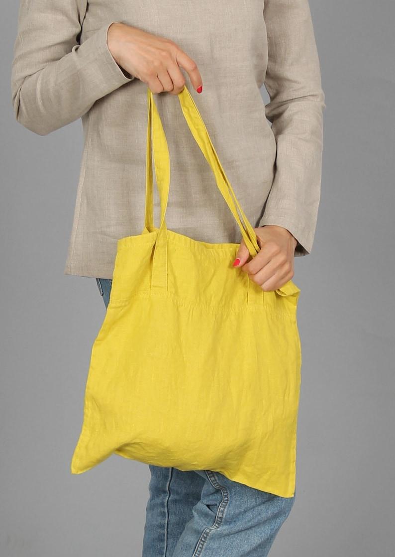 shopping tote Small size linen tote bag shoulder bag market bag linen shopping bag in 55 colors linen beach bag summer bag