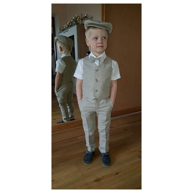 5c5abe7ec 2pcs Baby boy linen pants and vest set Toddler linen pants | Etsy