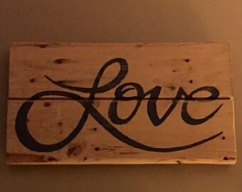 Love Wood Sign, Home Decor, Wall Art