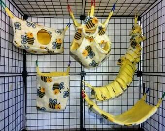 Premium Corner Cube Cage Set-Rat Cage Set-Rat Cage Accessories-Rat Hammocks- Rat Accessories-Rat Hammocks-Rat Hammock Set-Pet Rat Cage Set