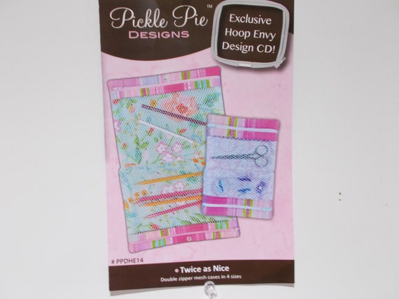 Double Zippere Mesh Cases A Cd Design By Pickle Pie Designs Etsy