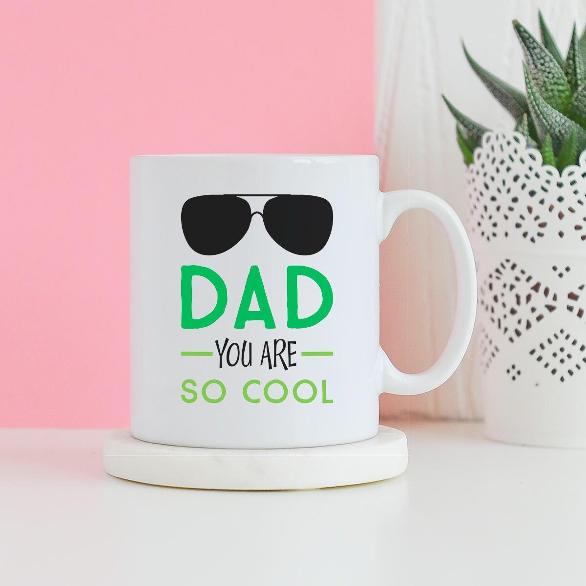 Papa du bist So kühl-Becher Vatertagsgeschenk Geburtstag | Etsy