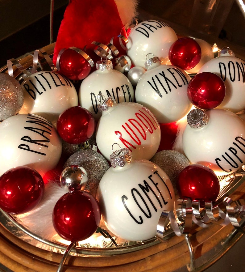 Rae Dunn Inspired Font Christmas Ornaments Decals Decals Only