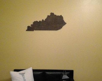 Hand Cut Wooden Kentucky Sign