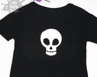 d200089c Pumpkin Skull TShirt, uni-sex TShirt, adult tee, 100% cotton t shirt