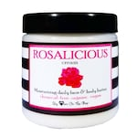Ultra-moisturizing ROSALICIOUS cream - Daily organic face & body butter for softening/scar-fading/tightening skin. CHEMICAL-FREE and vegan!