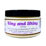TINY AND SHINY! Organic all-natural soothing baby lotion for hydration, bedtime, after-bath, eczema, & diaper rash! 4oz Use on whole family!