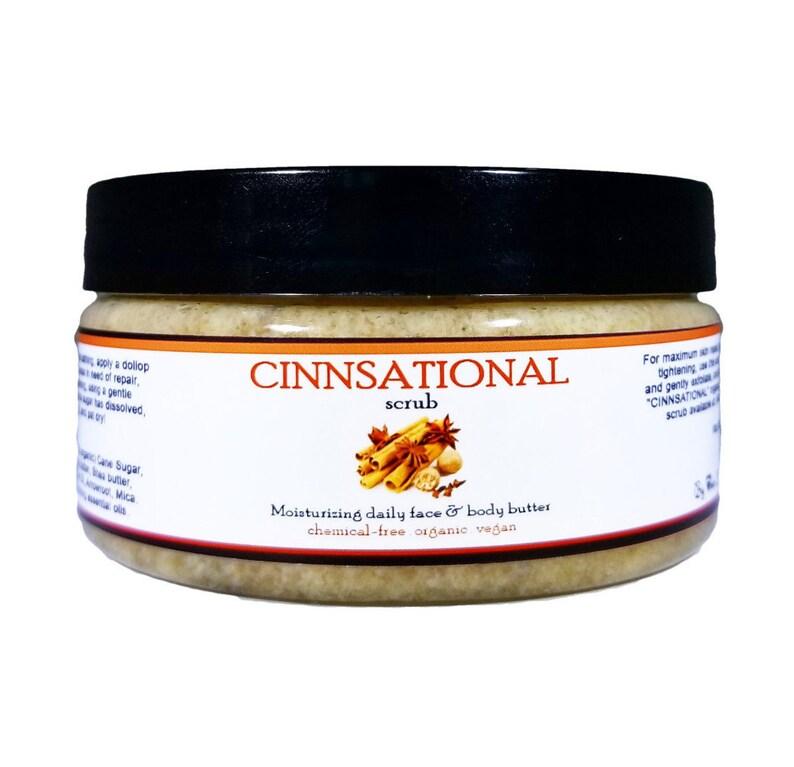 Ultra-moisturizing CINNSATIONAL scrub  Daily organic body image 0