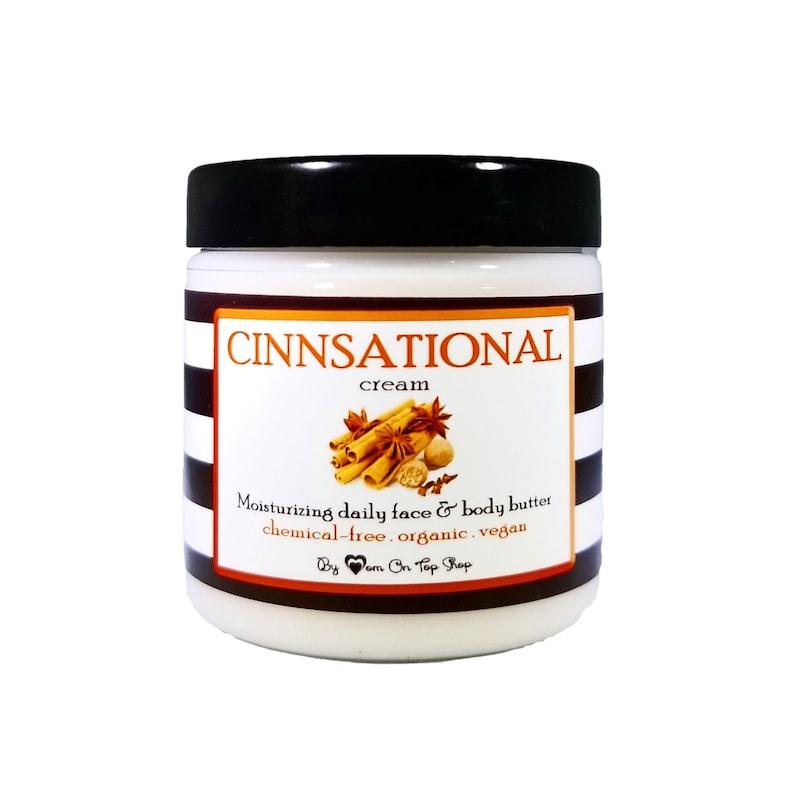 Ultra-moisturizing CINNSATIONAL cream  Daily organic face & image 0
