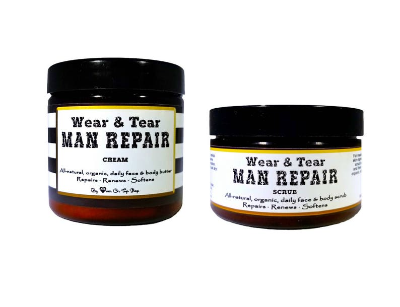 SAVE BIG MAN repair scrubcream-Organic face & body butter image 0