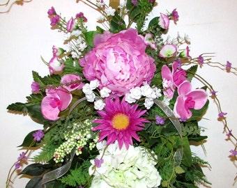Spring Sale-was 94.00- Spring door swag, Front Door Swag, Floral Swags, wreaths and swags, Spring decor, door swag