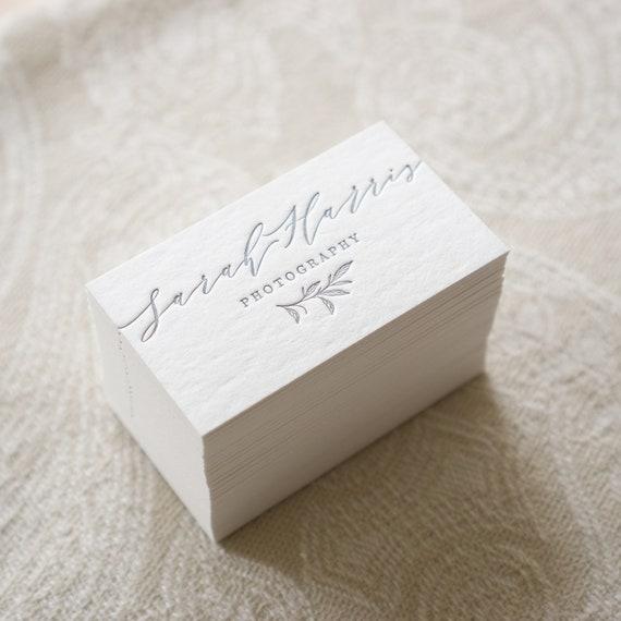 Cartes De Visite Luxe Typographie Carte
