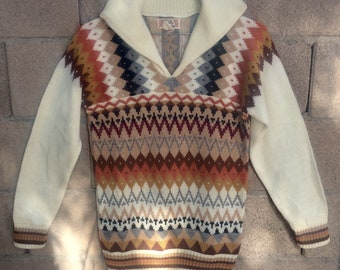 AMAZING Vintage Hand Loomed Sweater