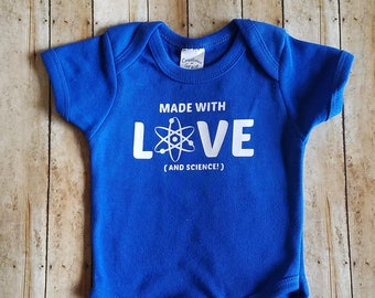 Made with LOVE (and a little science)!! Perfect for IVF parents/adoptive parents/surrogacy parents!! Perfect for new baby/shower gift!!
