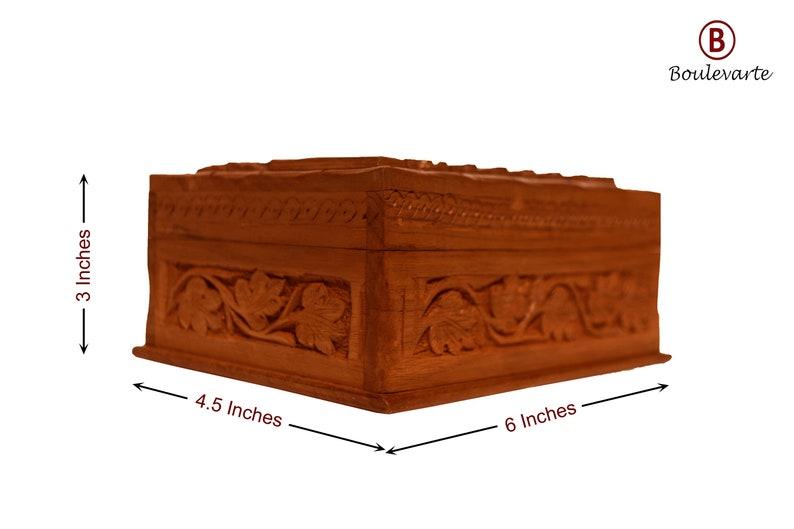e96174d734612 Handmade Wooden Jewelry Box | Walnut Wood Jewelry Organizer | Vintage Small  Jewelry Storage Case | Hand Carved Antique Jewelry Case