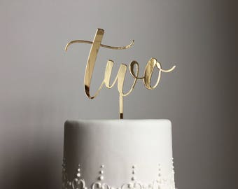 Two Cake Topper | Birthday Cake Topper | Anniversary