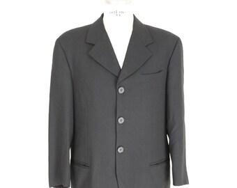 Dolce & Gabbana vintage wool black jacket size 54 it men's made italy