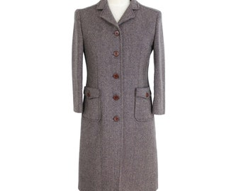 Miu Miu Tweed Wool Coat Vintage Brown b7eeb89f94b8a