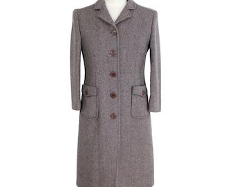 Miu Miu Tweed Wool Coat Vintage Brown db378497a8a83