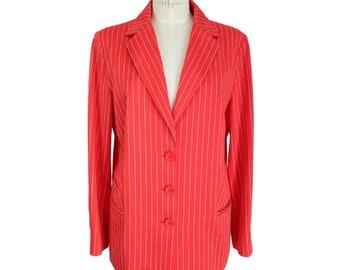 fbc0f526d4fc Enrico Coveri Blazer Blazer Vintage Cotton Red Jacket