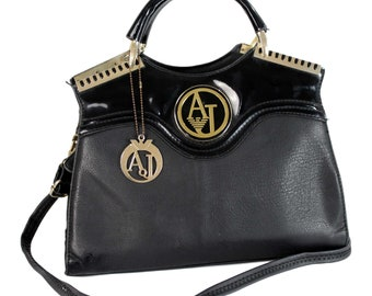 Armani Vintage Doctor Black Leather Bag df0deb92b1