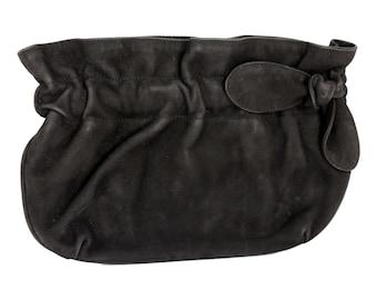 3031fe93e96e Armani Evening Bag Clutch Leather Vintage Black
