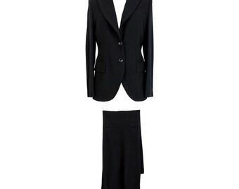 654fb90ad38a Valentino Roma Pants Suit Classic Tailleur Jacket Vintage Wool Black