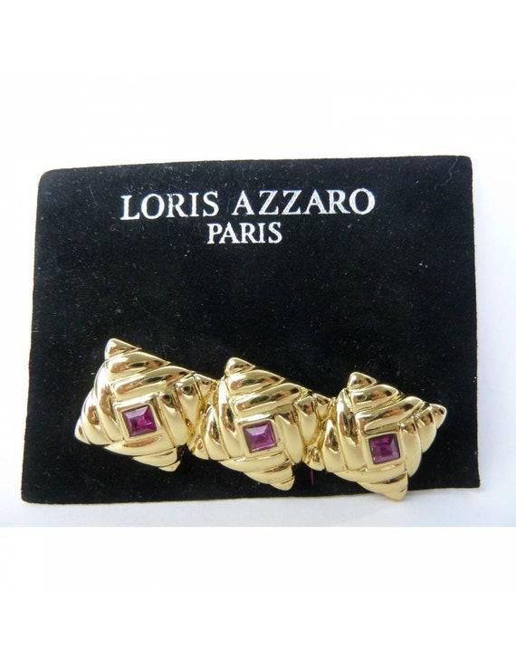 Loris Azzaro Brooch Costume Jewelry Vintage Gold
