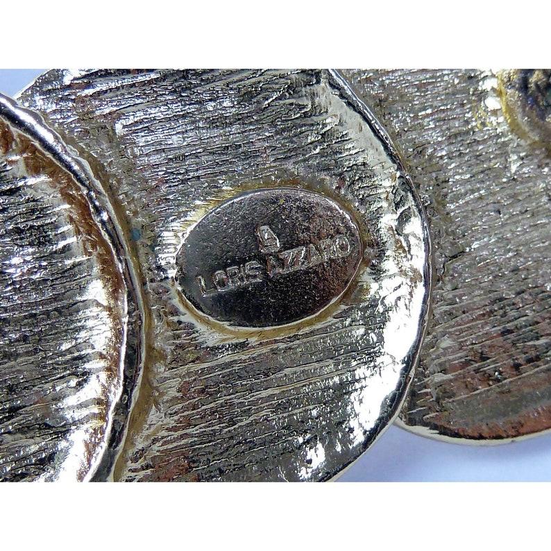 Loris Azzaro Medallions Brooch Costume Jewelry Vintage Gold
