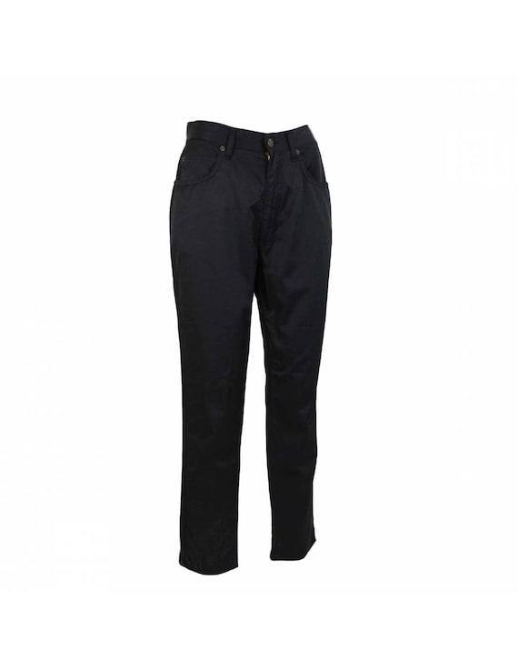 Fendi Pants Capri Cotton Vintage Black