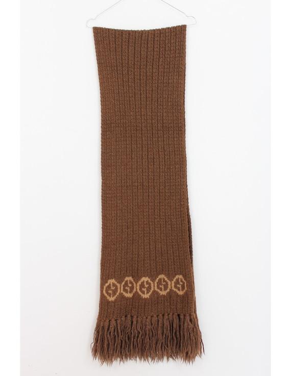Gucci Vintage 70s Scarf Alpaca Brown - image 2