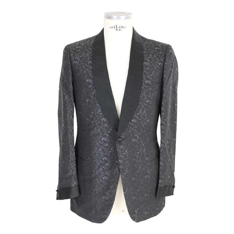 3e876f61d7b62e Brioni Black Vintage Silk Smoking Jacket | Etsy
