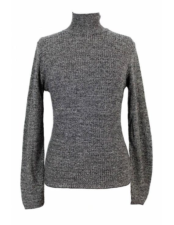 Genny Sweater Vintage Cashmere Salt Pepper High Ne