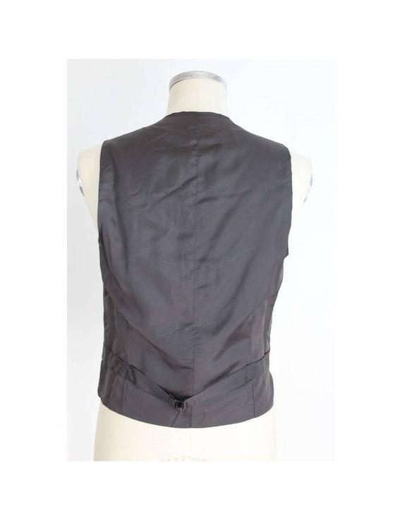 Pierre Cardin Waistcoat Satin Vintage Dark Gray W… - image 3