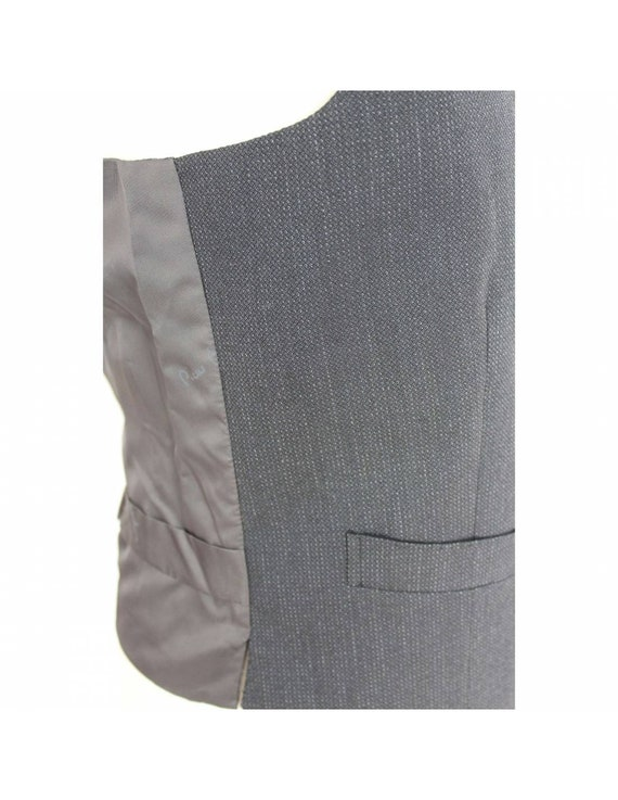 Pierre Cardin Waistcoat Satin Vintage Dark Gray W… - image 4