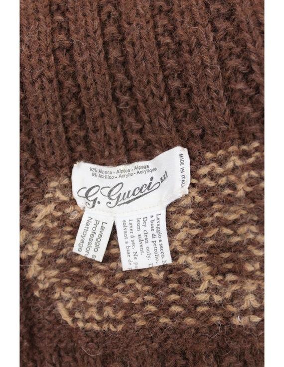 Gucci Vintage 70s Scarf Alpaca Brown - image 6
