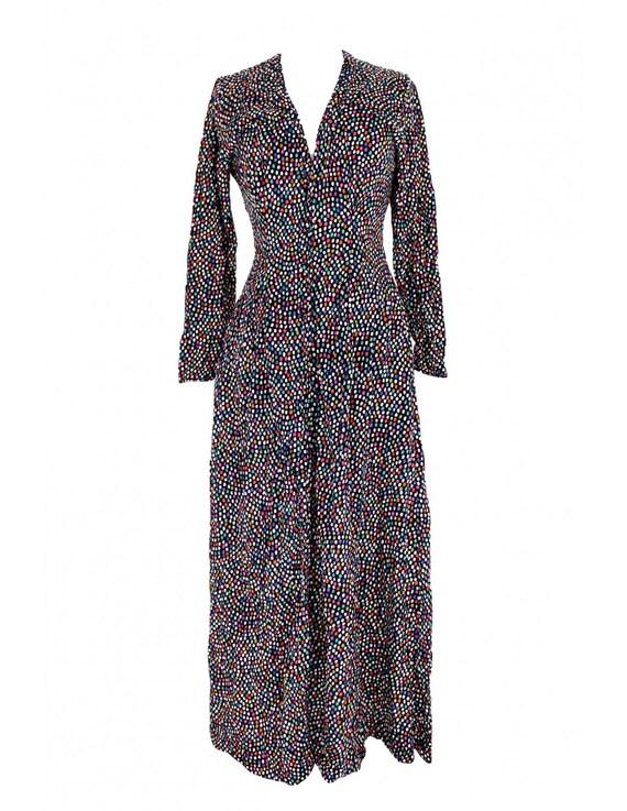 Missoni Vintage Dress Long Shirt Polka Dot Cotton