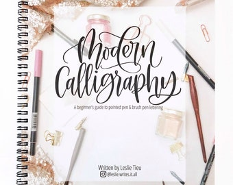 Modern Calligraphy KIT: includes 1 book and 2 pens (plus bonus Dual Brush Pen)