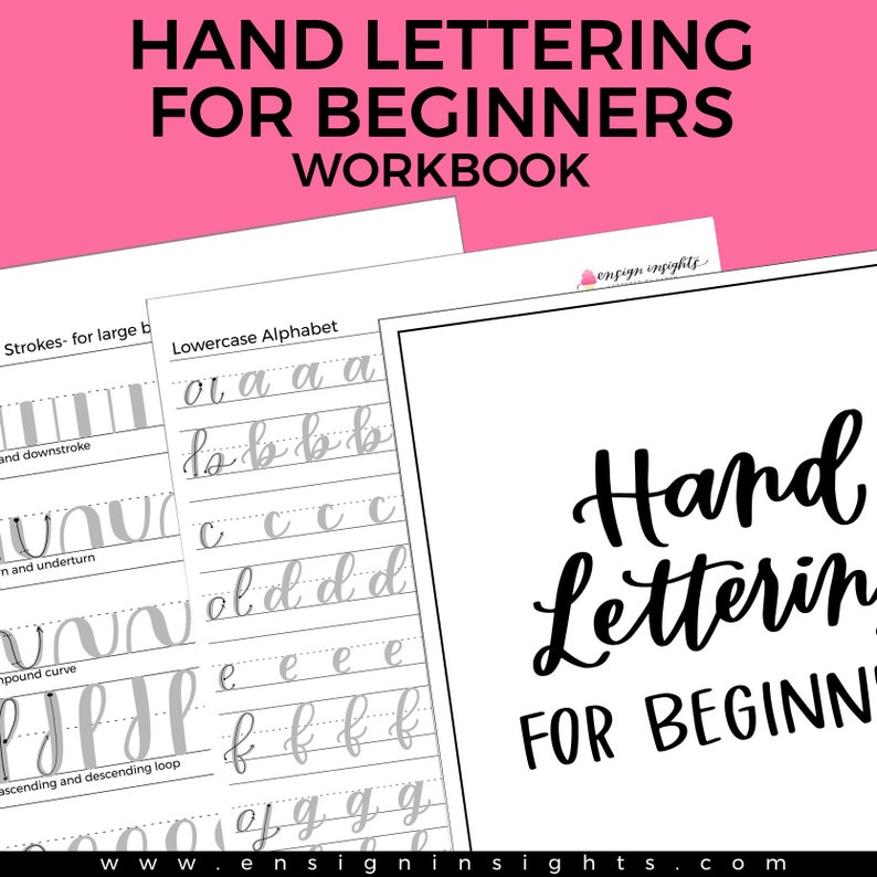 E-BOOK Hand Lettering for Beginners Workbook Learn hand image 0