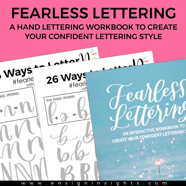 E-BOOK Fearless Lettering Workbook Learn hand lettering ipad image 0