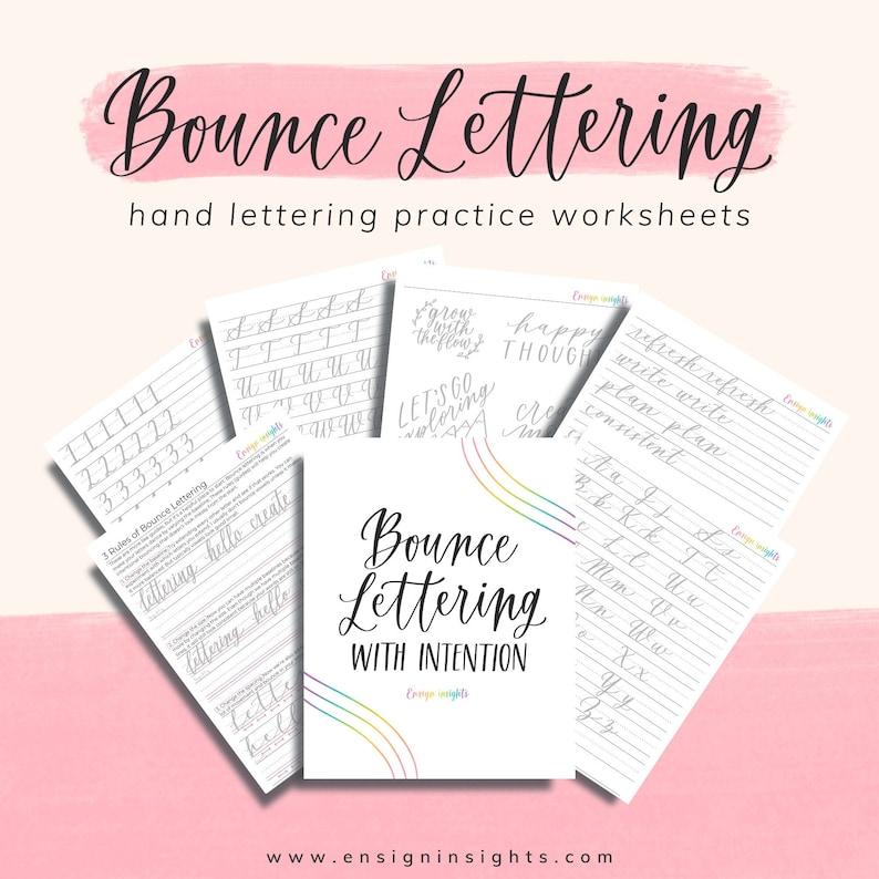 Bounce Lettering Worksheets lettering practice worksheets image 0