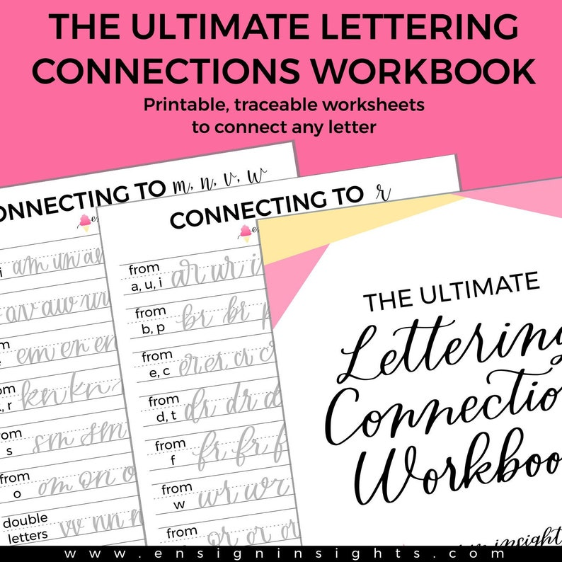 E-BOOK Hand Lettering Connections Workbook hand lettering image 0