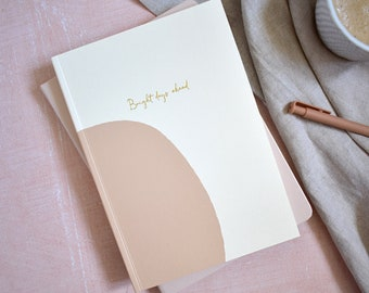 Weekly Planner Lay Flat 12 Months Undated - Natural