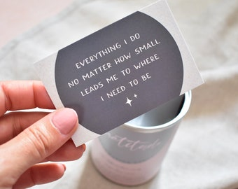 Gratitude Affirmation Cards in a Tin